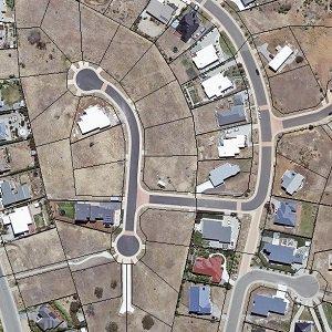 Blocks of land in subdivision