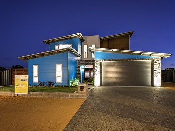 Custom designed energy efficient two story house